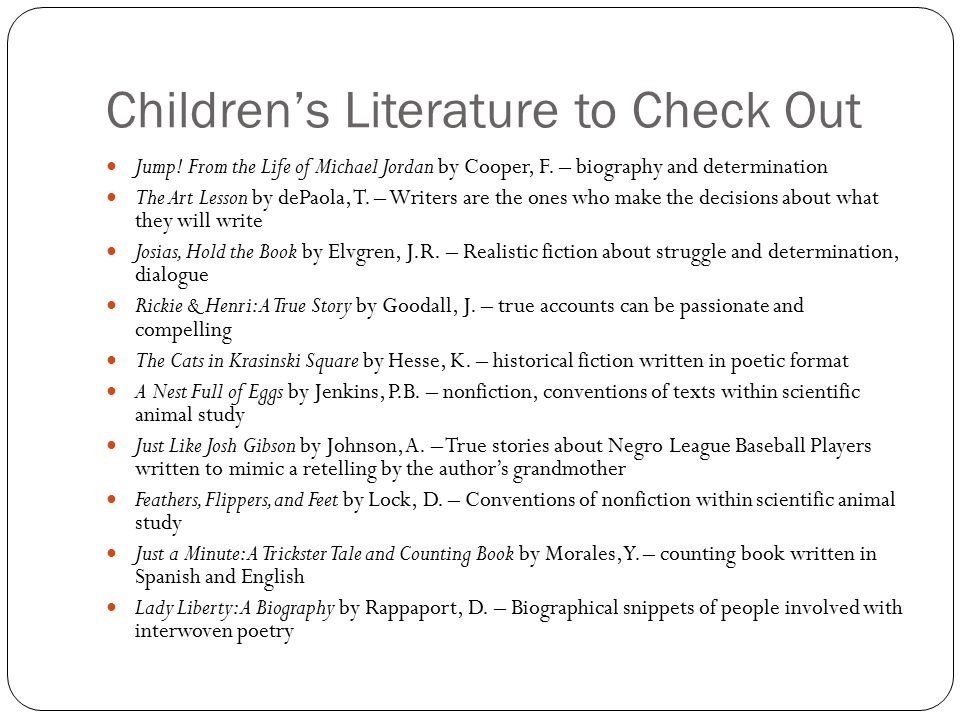 Children's Literature to Check Out Jump. From the Life of Michael Jordan by Cooper, F.