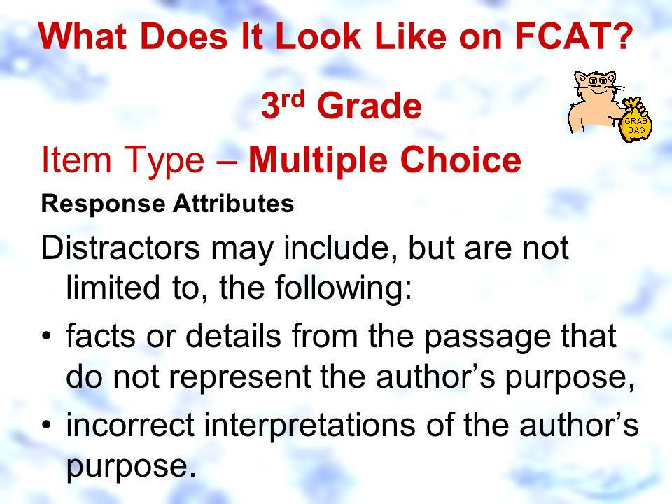 What Does It Look Like on FCAT.