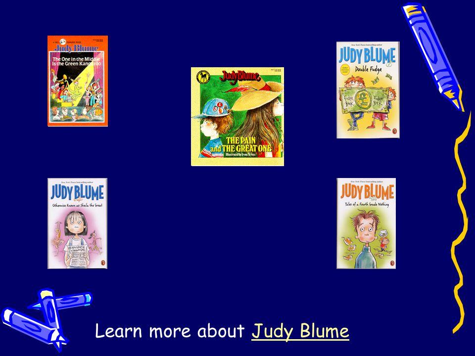 Resources Photos: www.judyblume.com/photos.html Research: www.judyblume.com/menu-main.html www.judyblume.com/articles/oppenheimer.html