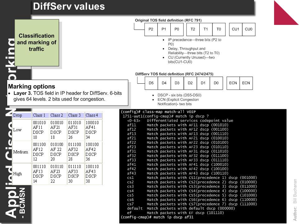 DiffServ values