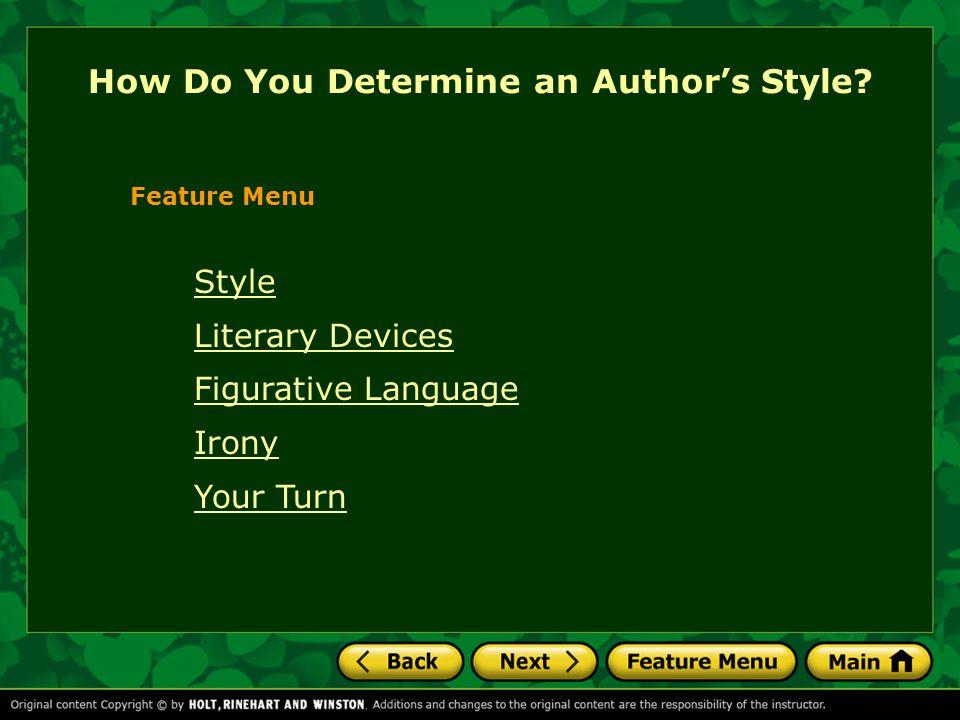 How Do You Determine an Author's Style.