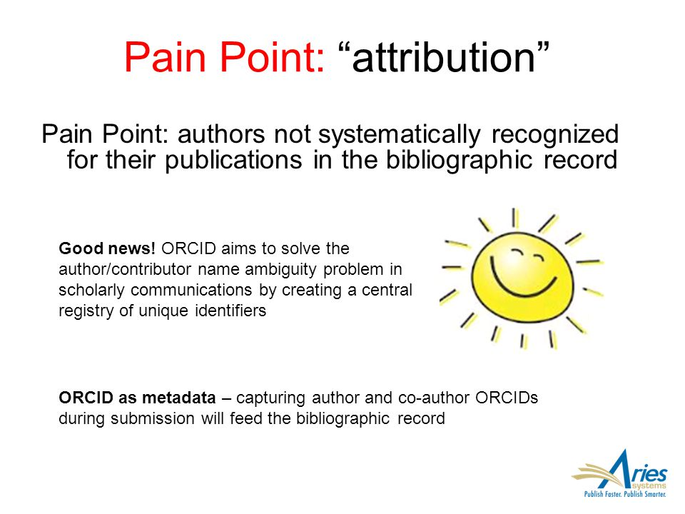 Editorial Manager Peer Review System Capture submitting author ORCID Support for other IDs (e.g.