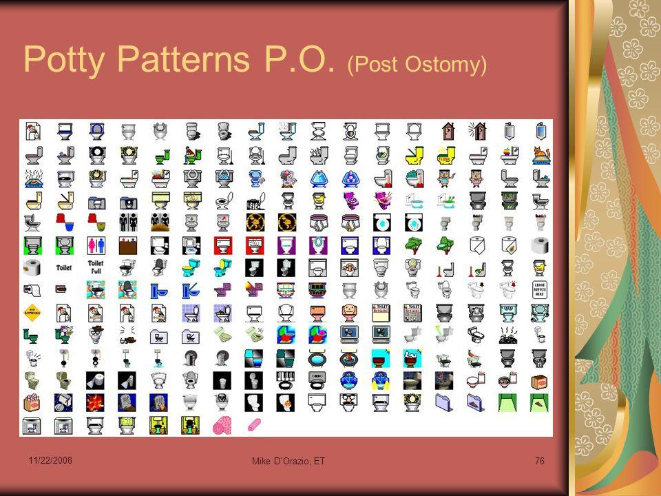 11/22/2008 Mike D'Orazio, ET76 Potty Patterns P.O. (Post Ostomy)