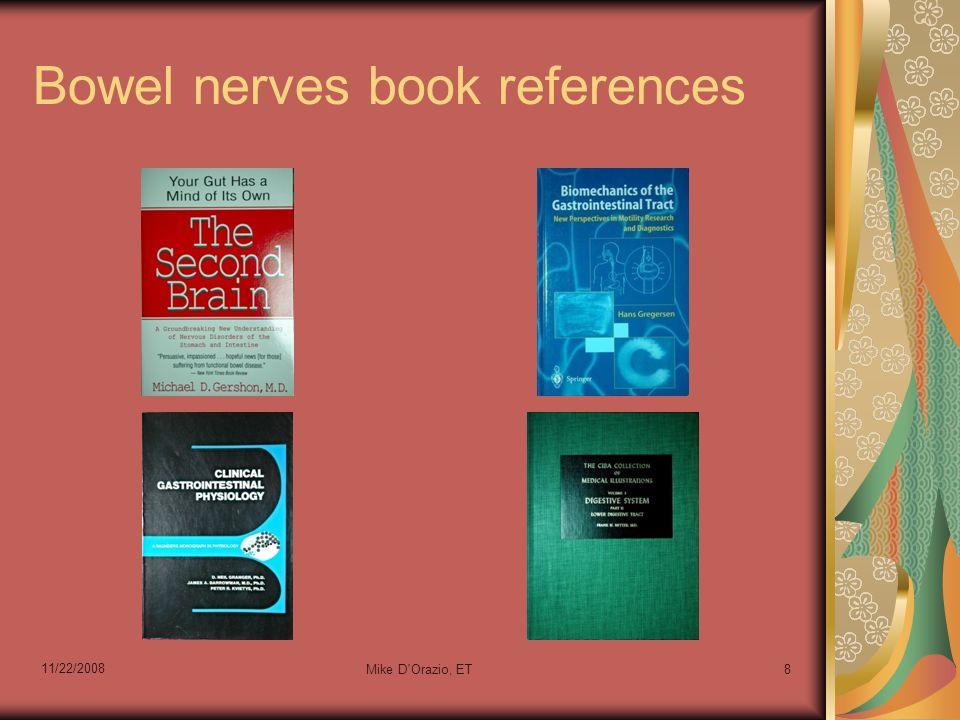 Bowel nerves book references 11/22/2008 Mike D'Orazio, ET8