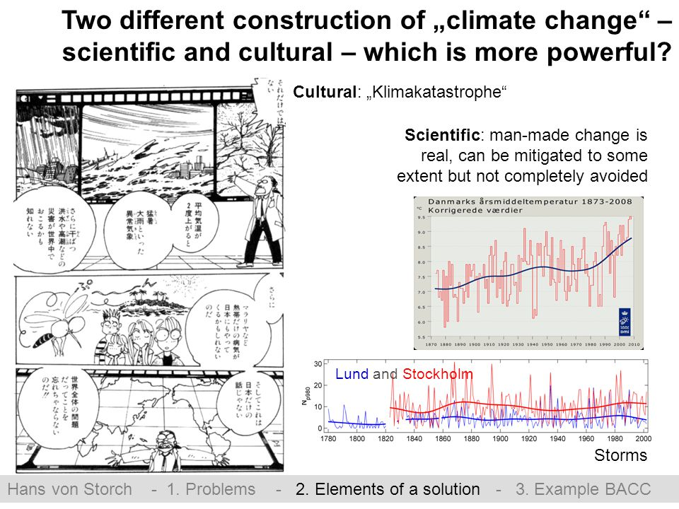 "Lund and Stockholm Two different construction of ""climate change – scientific and cultural – which is more powerful."