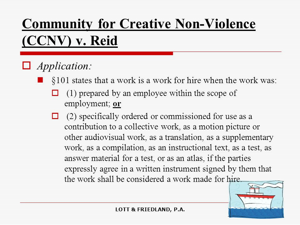 LOTT & FRIEDLAND, P.A. Community for Creative Non-Violence (CCNV) v.