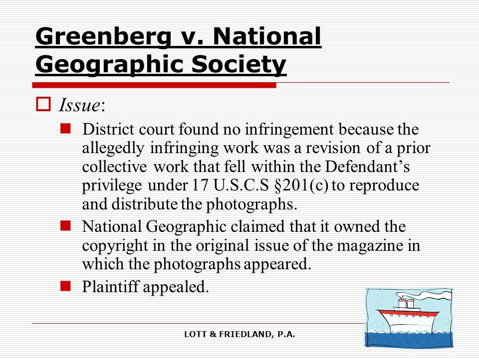 LOTT & FRIEDLAND, P.A. Greenberg v.