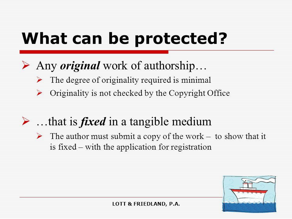 LOTT & FRIEDLAND, P.A.Author's Rights: Greenberg v.