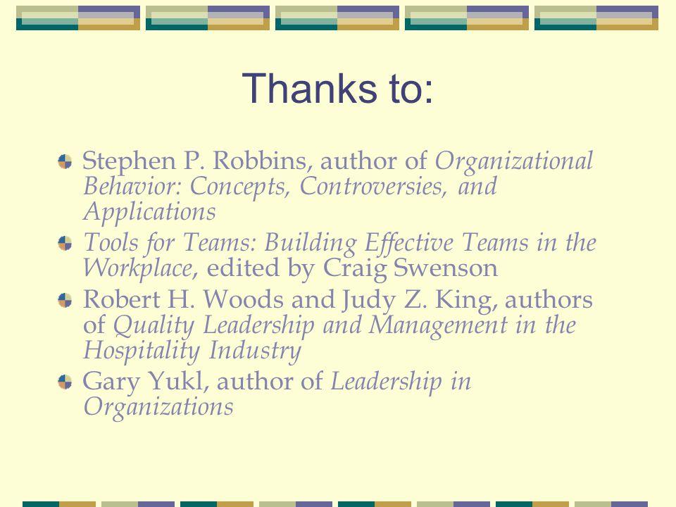 Thanks to: Stephen P.