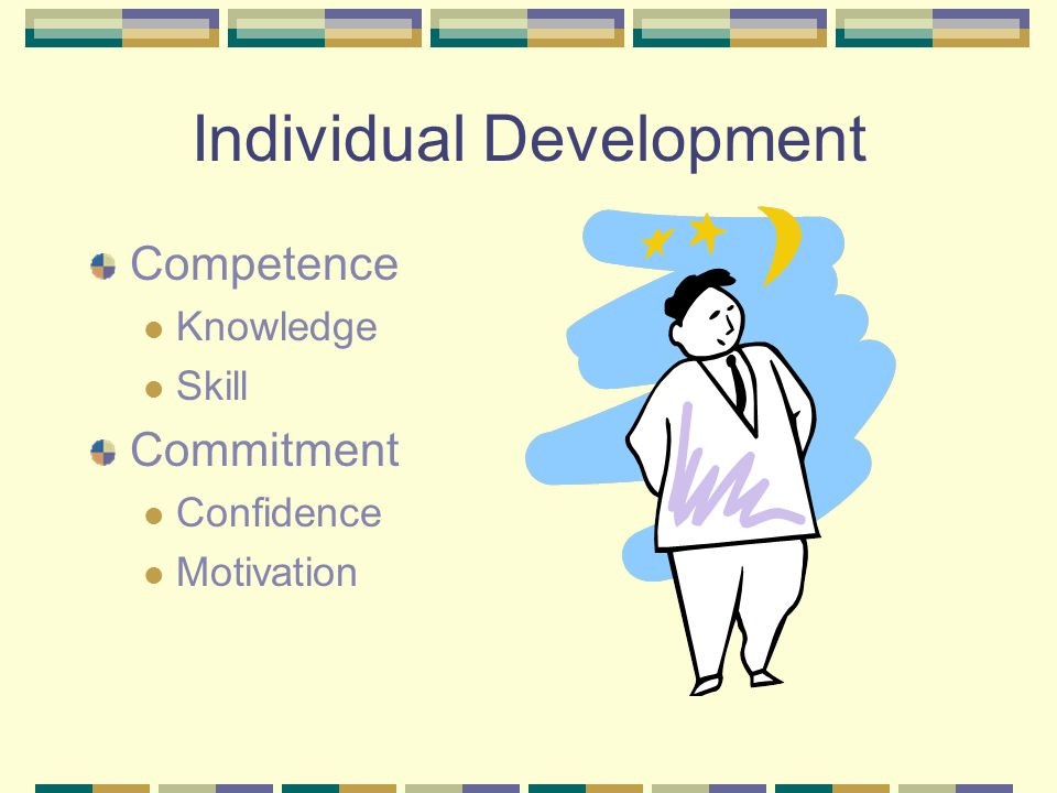 Individual Development Competence Knowledge Skill Commitment Confidence Motivation