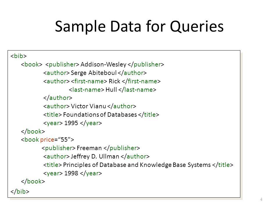 5 Data Model for XPath bib book publisherauthor..