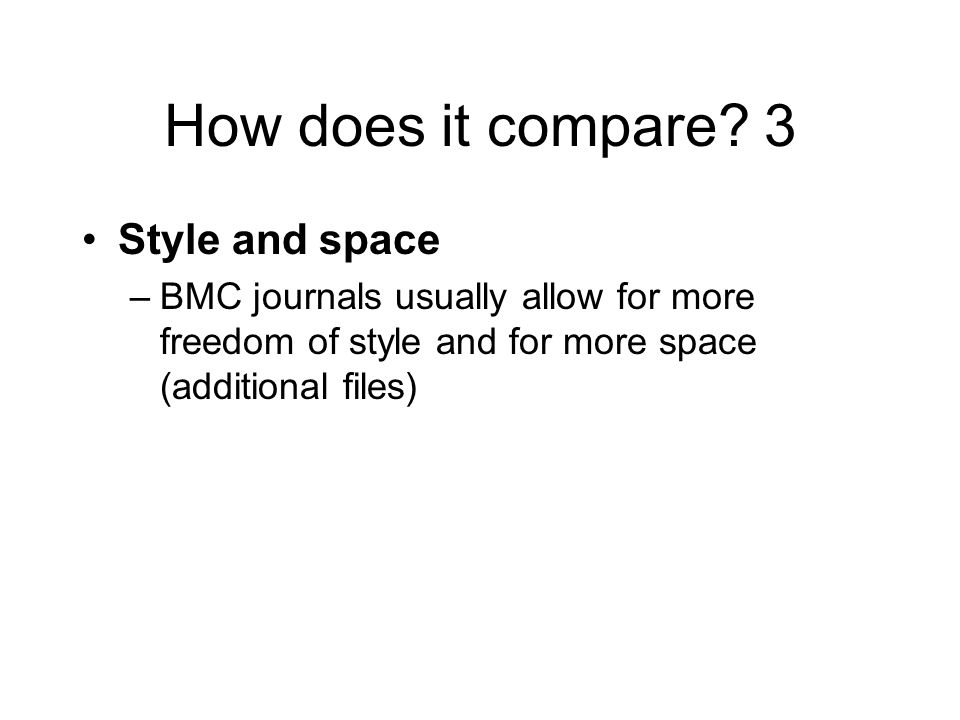 How does it compare.