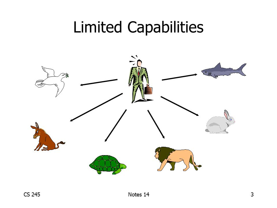 CS 245Notes 143 Limited Capabilities
