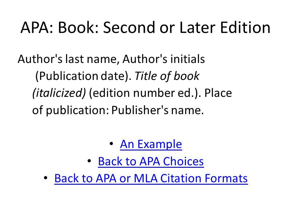 APA: ERIC Document An Example Machalow, R.(1984).