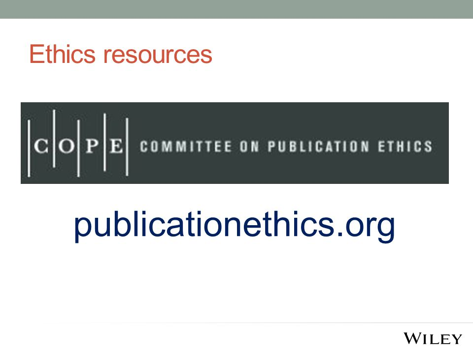 Ethics resources publicationethics.org