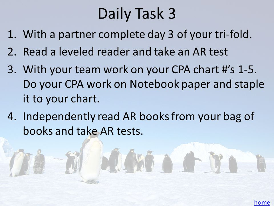 Daily Task 2 With a partner read pages 154-161 and answer these questions: – Reread pp. 156–157. Find the main idea and one supporting detail. – Add t
