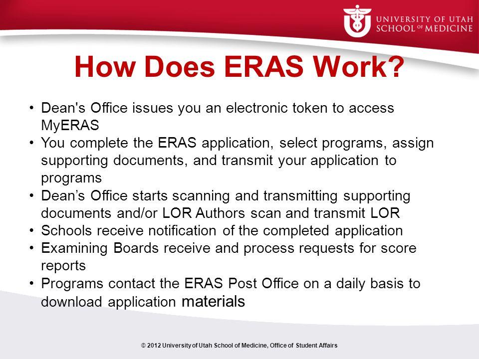 How Does ERAS Work.
