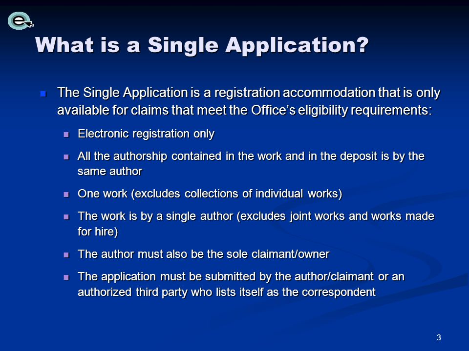 What is a Single Application.