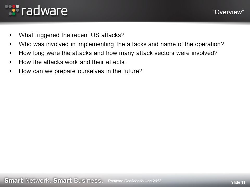 Overview What triggered the recent US attacks.