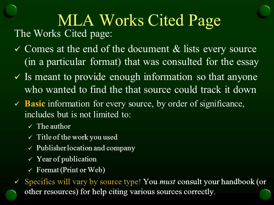 MLA Works Cited Examples Single author: Gleick, James.