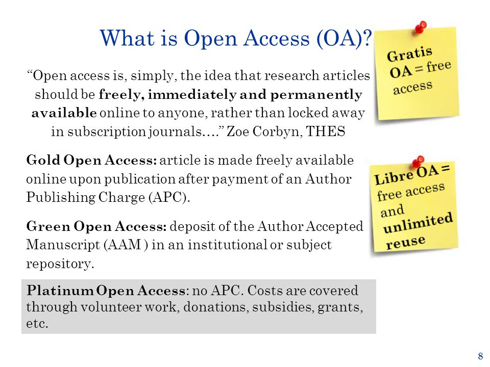 What is Open Access (OA).