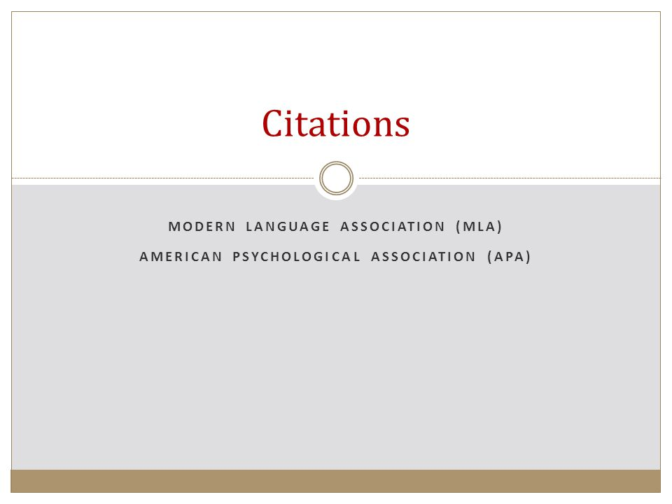 American psychological association bibliography