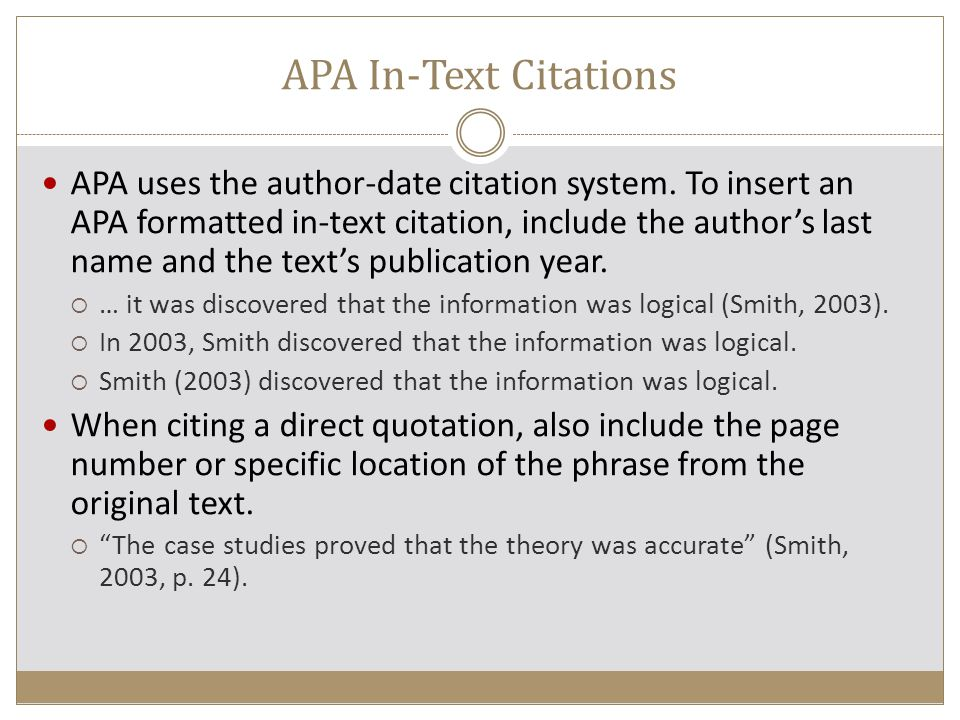 apa research paper in text citations The american psychological association or apa writing format text citation and references text citations are important in the body of your research paper.