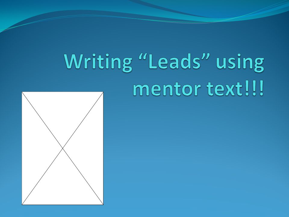 Author's LeadWhat has the author done.Our lead with the same technique!!.