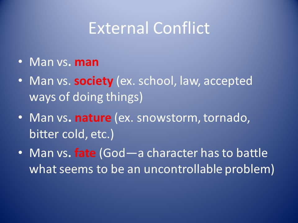 Conflict The colliding or clashing of thoughts, feelings, actions, or persons.