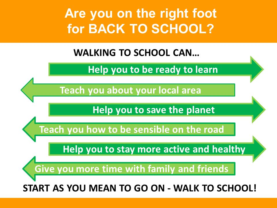 Are you on the right foot for BACK TO SCHOOL.