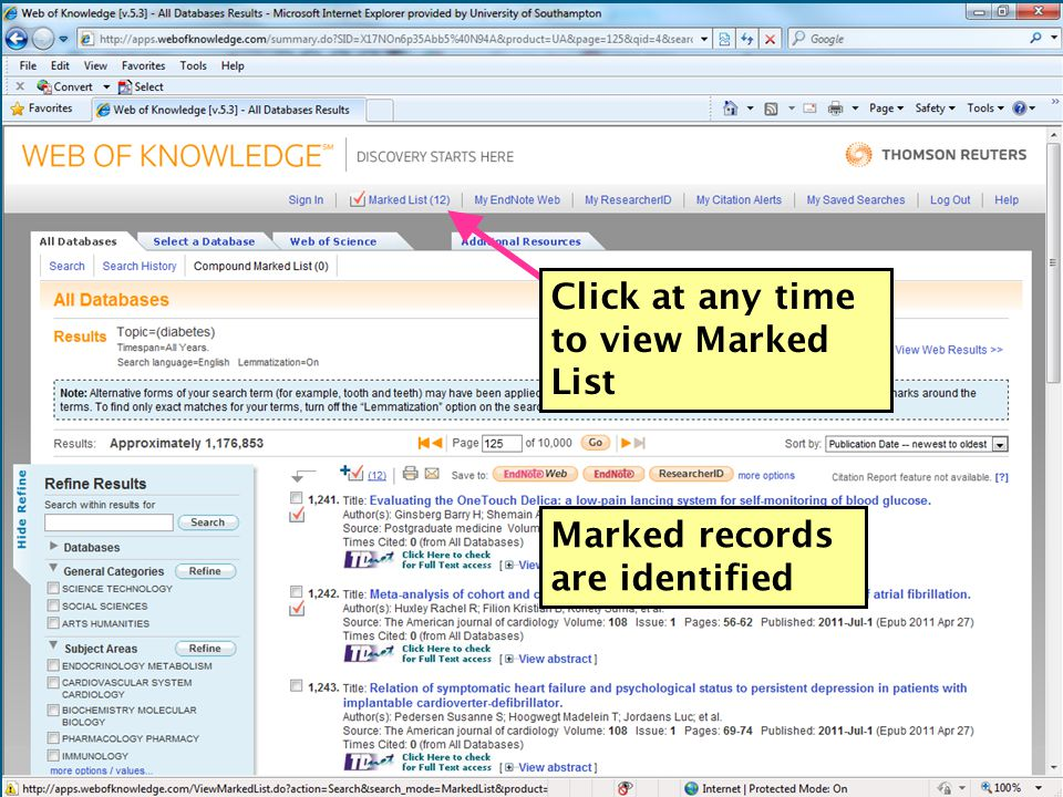 Marked records are identified Click at any time to view Marked List 51