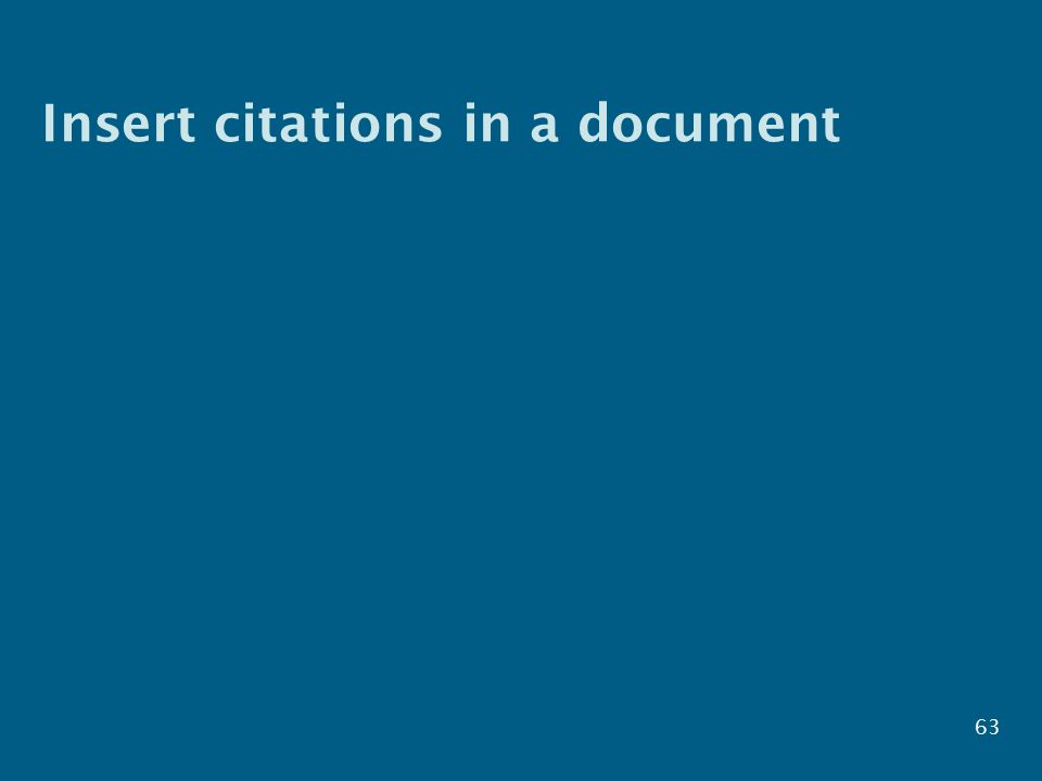 Insert citations in a document 63