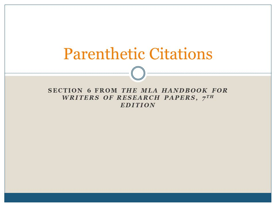 Parenthetic Citations – Defined Based on the Webster's Third New International Dictionary; Parenthetical is defined as: enclosed in parenthesis (1b 1641) Citation is defined as: the act of citing verbatim the spoken, written, or printed words of another (2a 411)