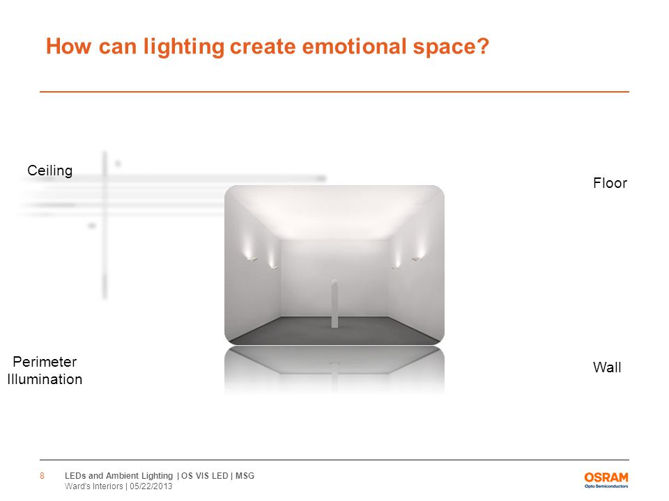 How can lighting create emotional space.