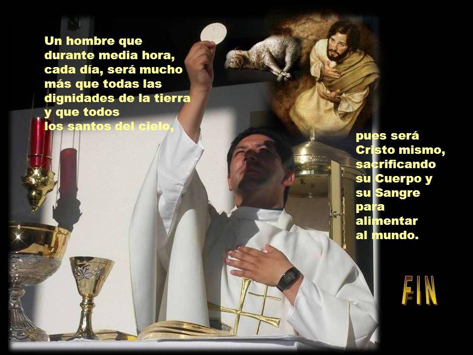 Uno comprende que dar para costear los estudios de un joven seminarista o de un novicio es allanar el camino por donde ha de llegar al altar un hombre.