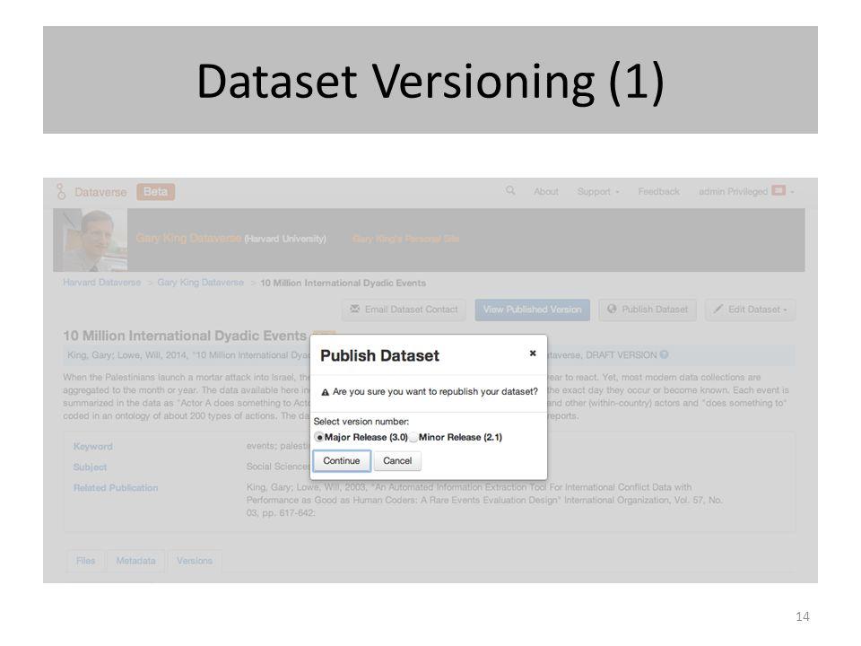 Dataset Versioning (1) 14