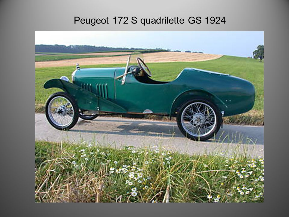 Peugeot Quadrilette Type Tandem 1922