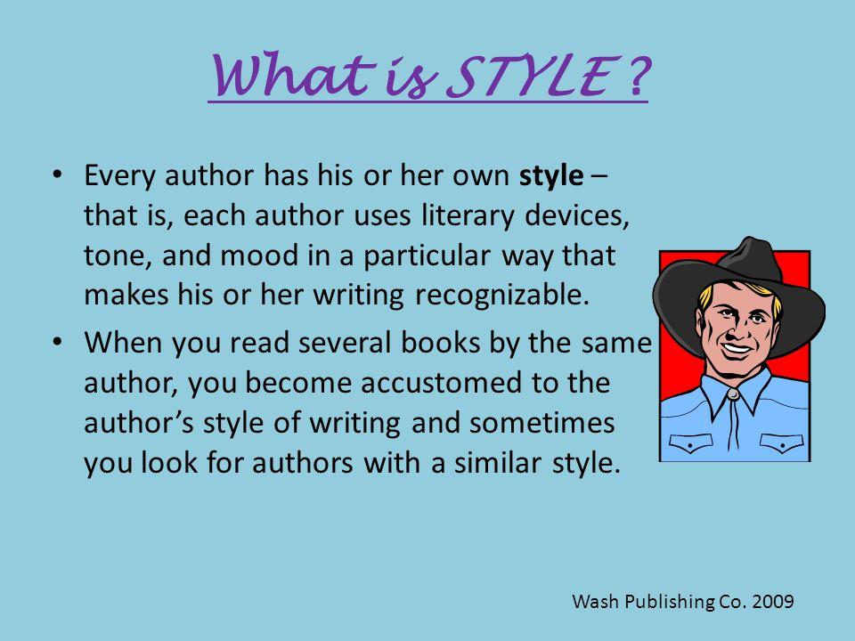 Author's Style Wash Publishing Co. 2009
