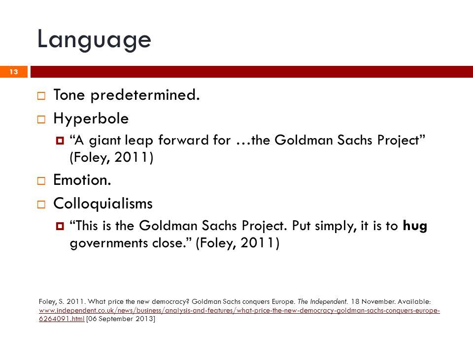 Language 13  Tone predetermined.