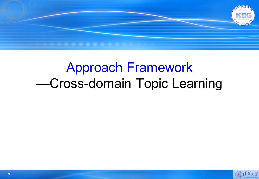 7 Approach Framework —Cross-domain Topic Learning