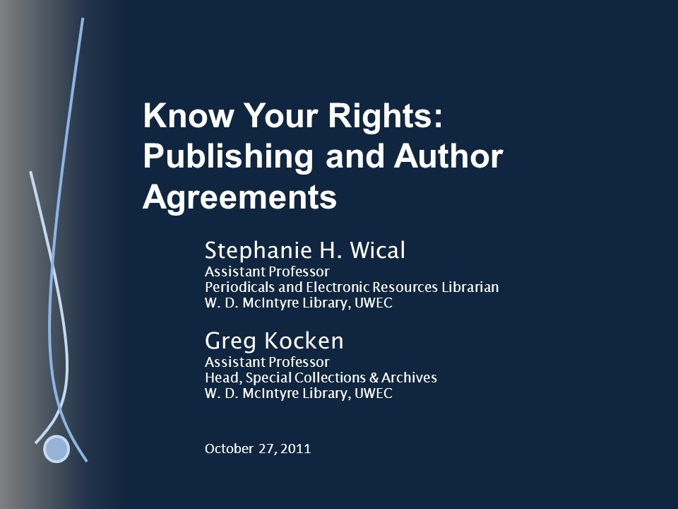 Know Your Rights: Publishing and Author Agreements SELF-ARCHIVING AGU and Institutional Repositories *Notice the embargo period.