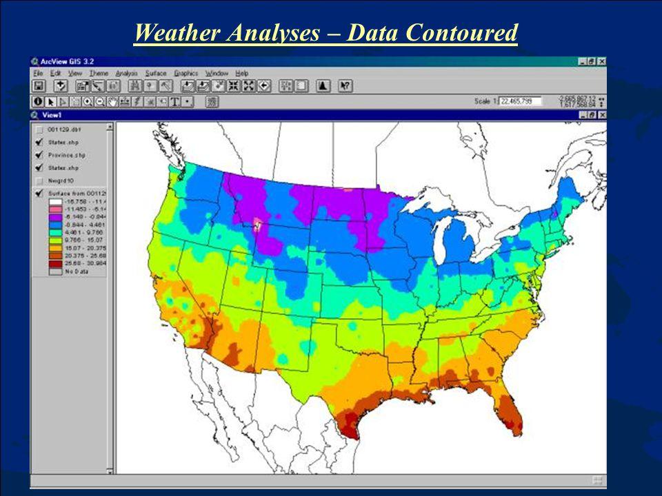 Weather Analyses – Data Contoured
