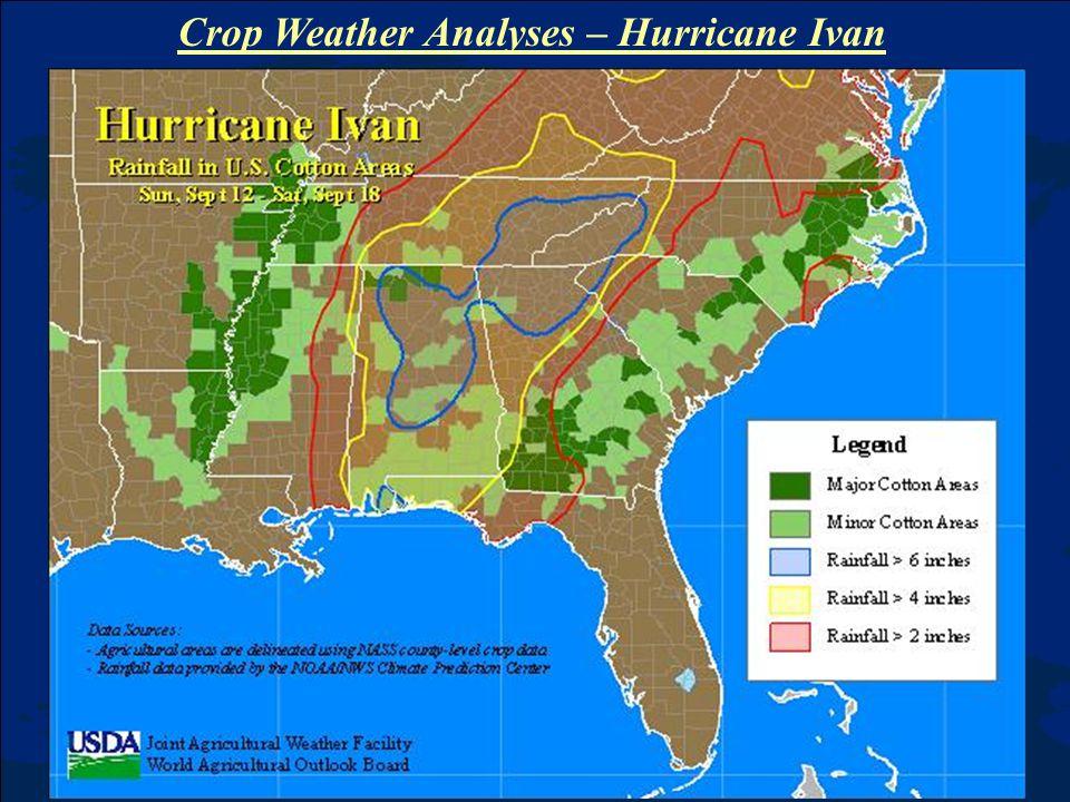 Crop Weather Analyses – Hurricane Ivan