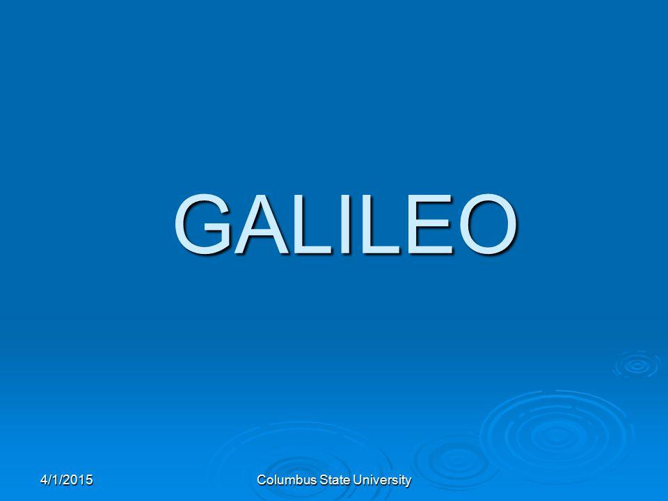4/1/2015Columbus State University GALILEO