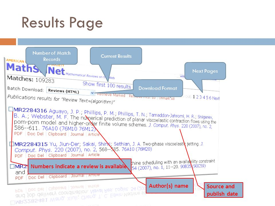 Results Page Number of Match Records Current Results Next Pages Download Format Numbers indicate a review is available Author(s) name Source and publish date