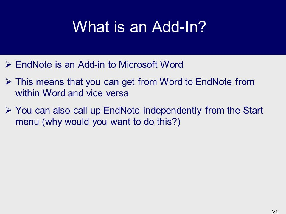 > 5 How do you call up EndNote.