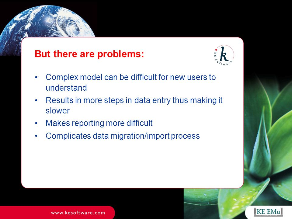 Advantages of new scheme Rapid data entry Simplified interface to data model Flexibility to control terminology only in areas that matter Improved options for data import Can import data into a flat (flatter?) model Can preserve controlled terminology lists Can address terminology exceptions after import