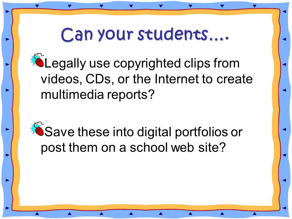 Can your students….