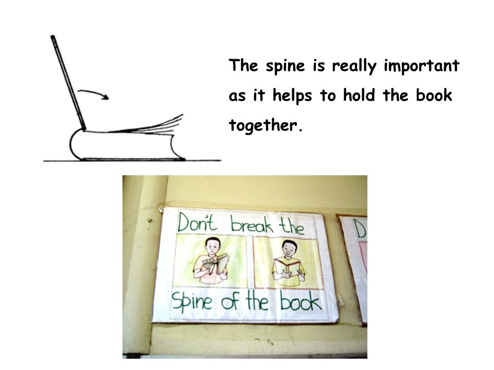 The spine is really important as it helps to hold the book together.