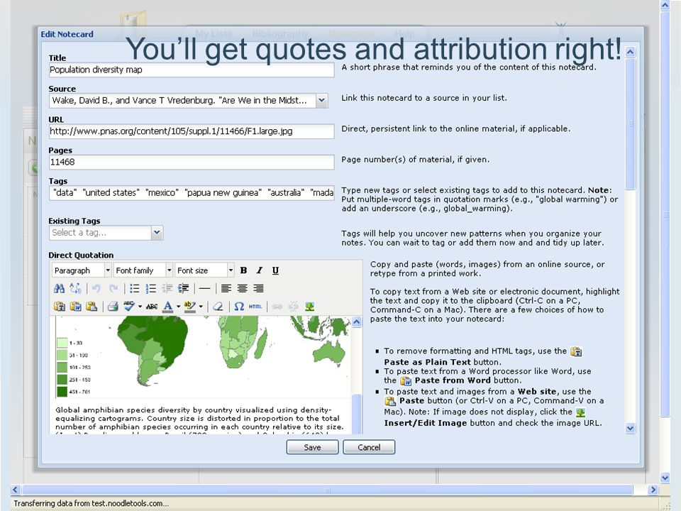 You'll get quotes and attribution right!